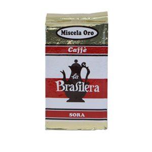 Caffè macinato confezione 250 grammi sotto vuoto miscela Oro La Brasilera