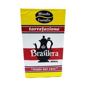 Caffè macinato confezione 250 grammi sotto vuoto miscela Famiglia La Brasilera